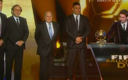 "Messi novamente ""FIFA World Player of the Year 2011"""