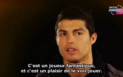 Cristiano Ronaldo elogia Messi