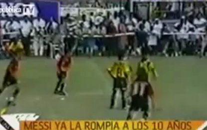 Habilidade de Messi aos 10 anos