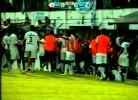 Agressão com barra de ferro durante um jogo de futebol