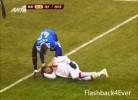 Mellberg choca contra o guarda-redes e fica inconsciente