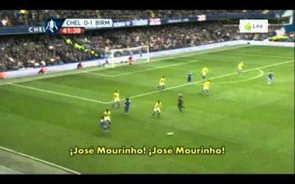 Nome de Mourinho faz-se ouvir em Stamford Bridge