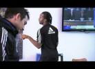 Reação cómica de Drogba ao sorteio da Champions