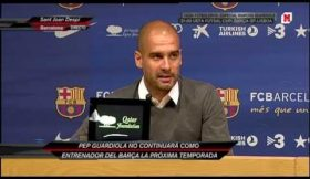 Guardiola despede-se do Barcelona