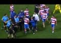 Jogador do Granada atinge árbitro com garrafa