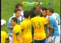 Confusão no amigável entre Brasil e Argentina