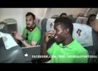 Regresso animado de Portugal após jogo com a Holanda
