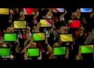 Bandeira de Portugal formada com tablets