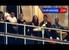 Cristiano Ronaldo e Irina durante o troféu Santiago Bernabéu