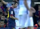 Messi discute com Villa
