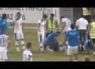 Explosivo atirado para cima de jogadores no Chipre