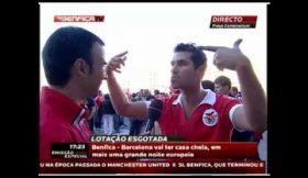 Adepto possuido volta a atacar no Benfica – Barcelona