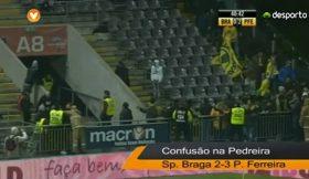 Braga x Paços: Confusão nas bancadas