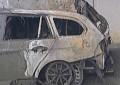 Liedson sofre acidente e carro fica destruído