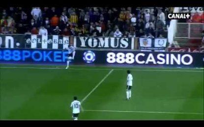 Valencia ganha com lançamento lateral oferecido