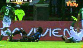Jogador colombiano lesiona-se gravemente