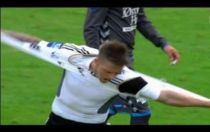 Avançado do Rosenborg rasga a camisola
