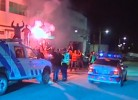 Confusão na chegada do Benfica a Figo Maduro