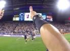 Veja o que um árbitro vê durante um jogo