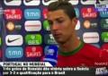"Cristiano Ronaldo – ""Flash Interview"" após o Suécia 2 Portugal 3"