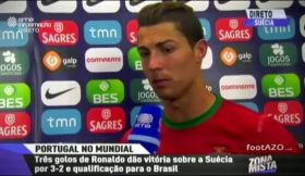"Cristiano Ronaldo – ""Flash Interview"" após o Suécia 2 Portugal 3"