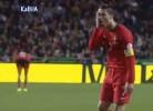 "O ""facepalm"" de Ronaldo a Lustig"