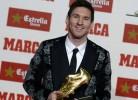 Messi recebe 3ª Bota de Ouro consecutiva