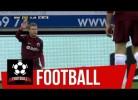 Tom Hogli (Club Brugge) fez um corte... na cabeça do adversário.