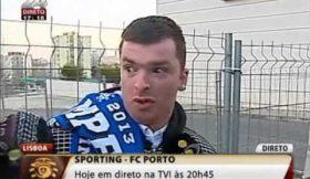 O adepto solitário do Porto em Lisboa