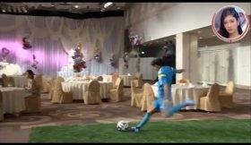 Shunsuke Nakamura derruba noivos de um bolo de casamento