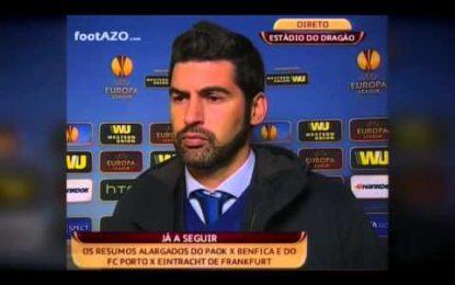 Porto vai a Leverkusen para vencer o Frankfurt…palavras de Paulo Fonseca