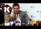 Messi surpreende fãs durante chat online
