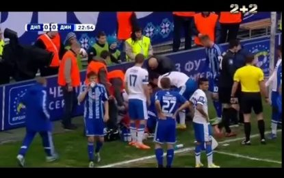 Jogador do Dnipro poderá ter salvo vida de jogador do Dinamo Kiev
