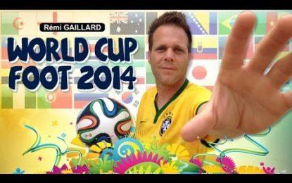 Rémi Gaillard está de volta vestindo as camisolas das 32 equipas do Mundial