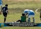 Árbitra argentina fica KO depois de levar bolada na cara