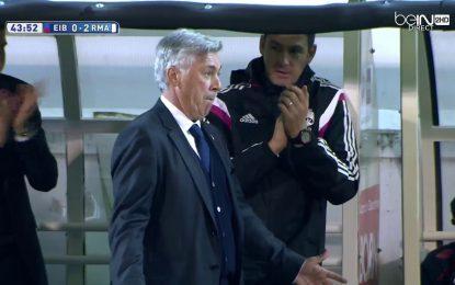 """Ancelotti imita festejo """"à Ronaldo"""""""