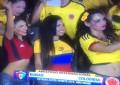 Pablo Armero fica excitado ao ver colombianas na bancada durante amigável no Kuwait