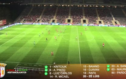 Reveja o golo do Braga contra o Rio Ave onde 11 jogadores tocaram na bola antes do golo