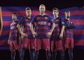 Barcelona apresenta novo equipamento para 2015/16 e terá riscas horizontais