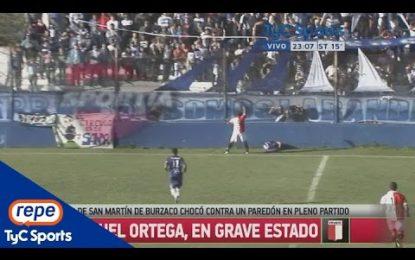 Jogador morre na Argentina depois de embater com a cabeça no muro da bancada