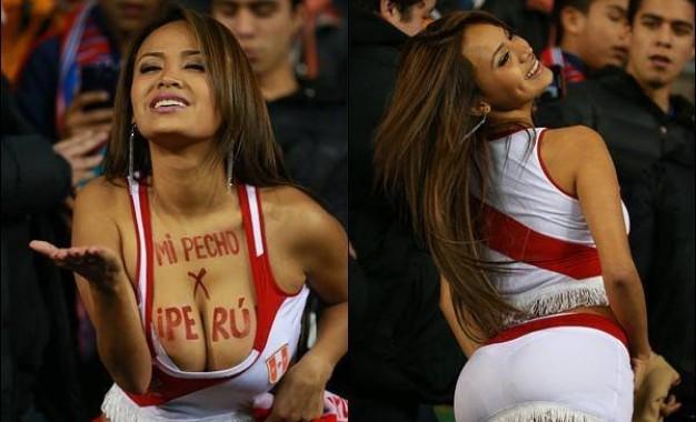 Nissu Cauti: a modelo peruana que prometeu despir-se se o Perú passasse às meias da Copa América e cumpriu