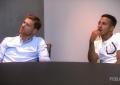 Xabi e Thiago numa aula de alemão