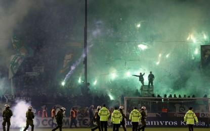 Violência suspende derby entre Panathinaikos e Olympiakos