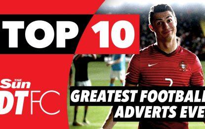 Os 10 melhores anúncios publicitários com futebolistas