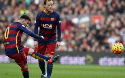 O golo de Messi ao Deportivo visto em Slow Motion da bancada