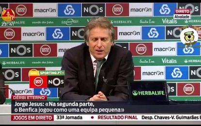Depoimentos atrapalhados de Jesus depois da derrota contra o Benfica