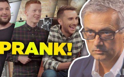 Mourinho participa em brincadeira com conhecido canal do Youtube
