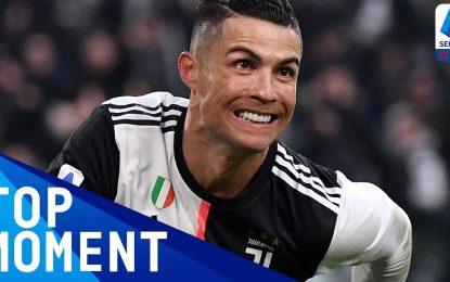 Cristiano Ronaldo marca o seu primeiro Hat Trick em Itália
