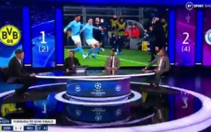 Vídeo: Pediram a Crouch para nomear os 4 ingleses que marcaram nos 2 jogos dos quartos-de-final da Champions e o próprio não sabia que tinha sido um deles