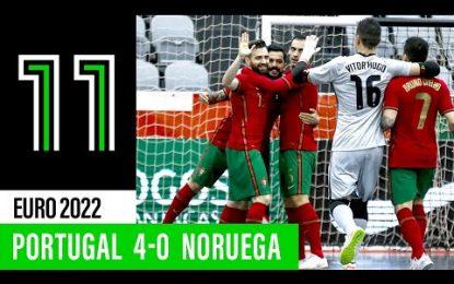SN Futsal: Portugal 4-0 Noruega